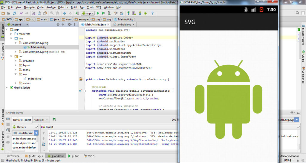 Integrate SVG in Android Studio 8