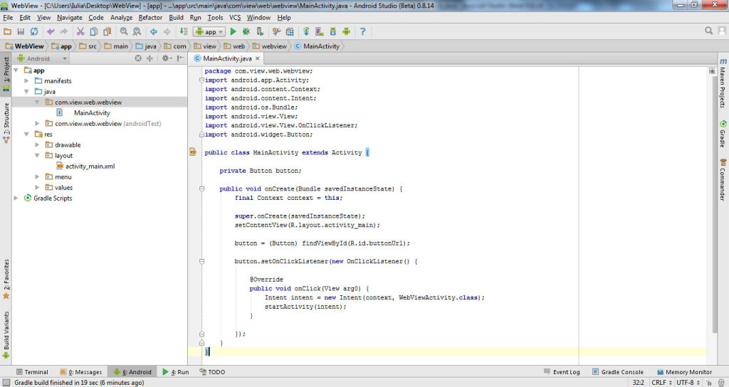 get data from website with WebView in Android Studio 1