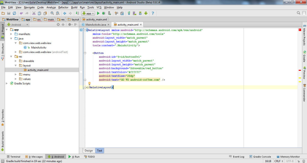 get data from website with WebView in Android Studio 2