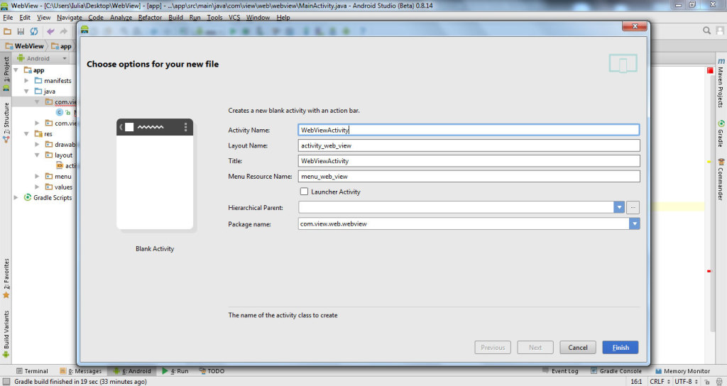 get data from website with WebView in Android Studio 4