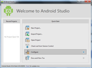 android studio configure