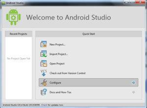 android studio configure
