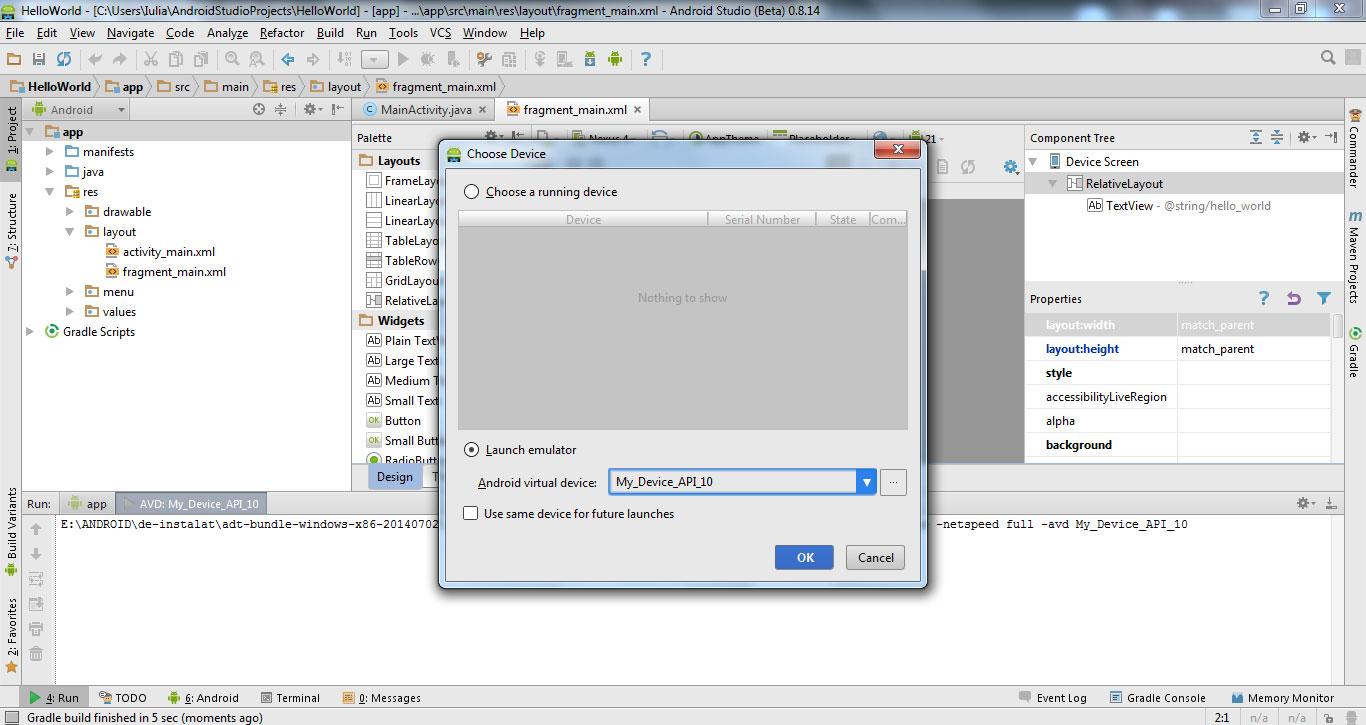 Create Emulator in Android Studio