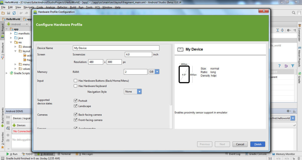 Android Virtual Device 4
