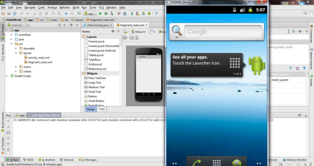Android Virtual Device 9