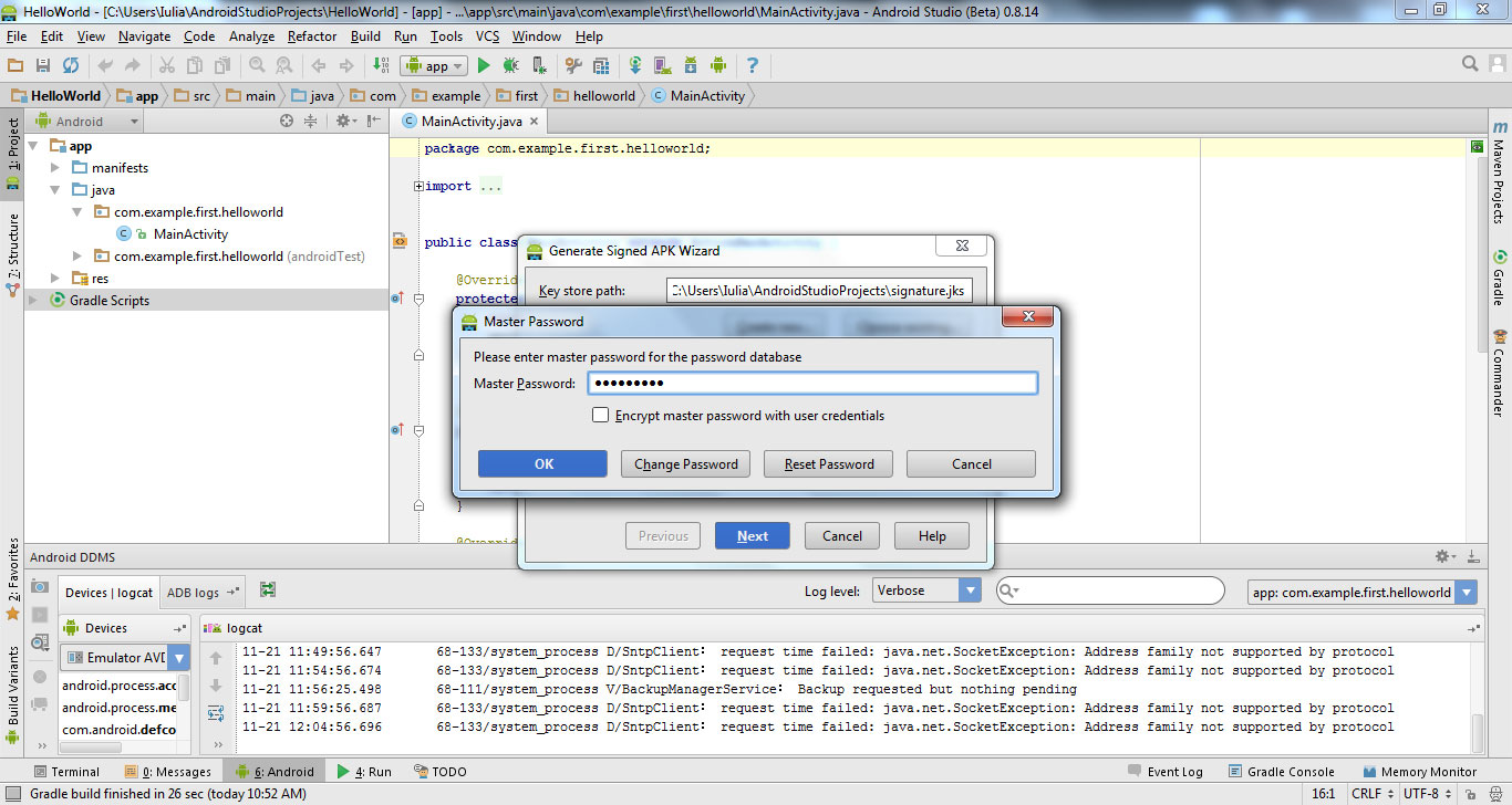 Export your app from Android Studio