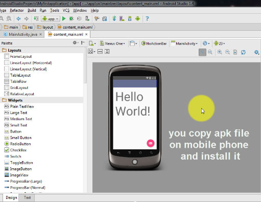 Learn to export app from Android Studio 1.4