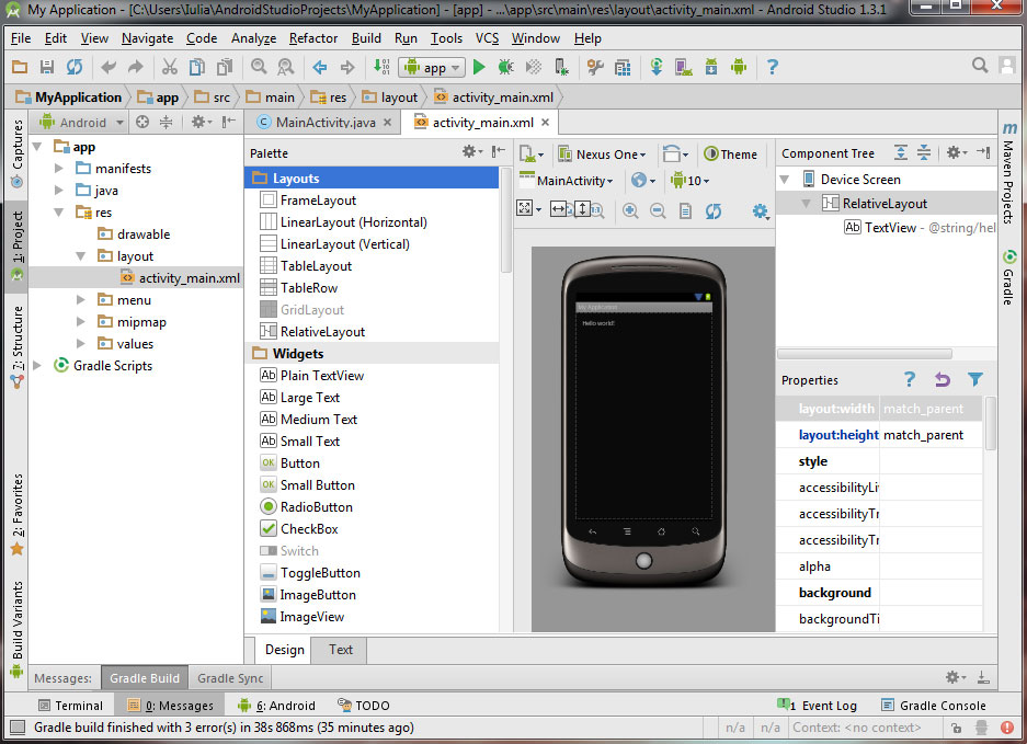 How to start a new Android Studio project