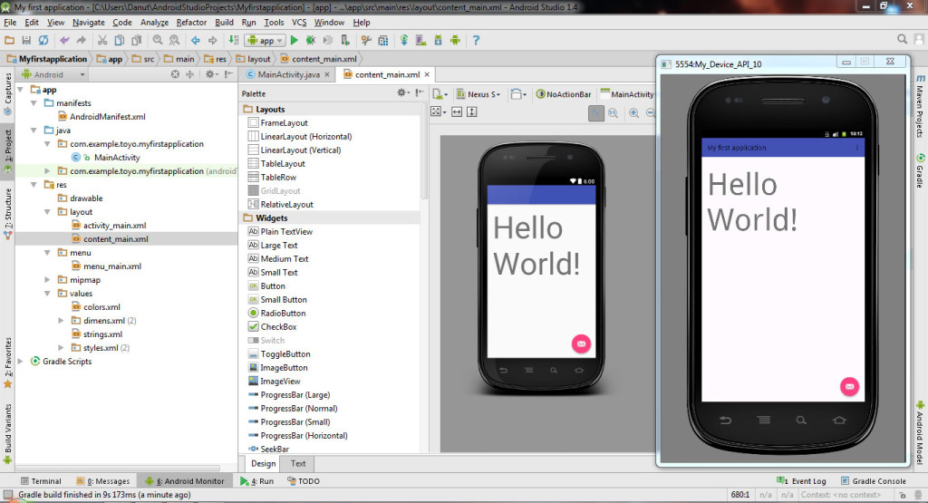 Create your Virtual Device (EMULATOR) in Android Studio 1.4