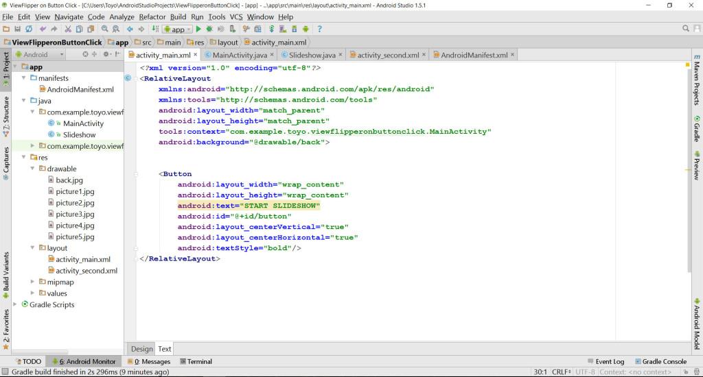 ViewFlipperActivity Main source code