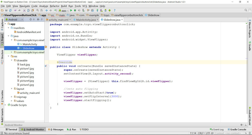 ViewFlipper JavaClass source code