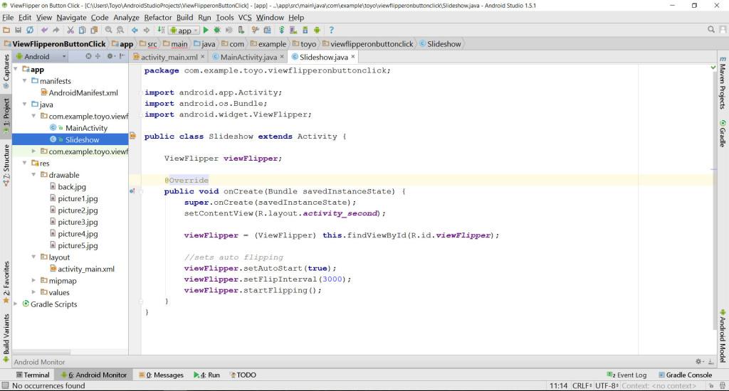 ViewFlipper JavaClass source code
