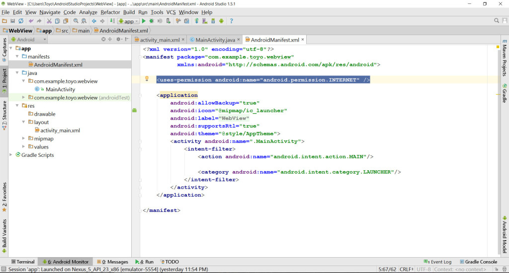 Get data from website with WebView
